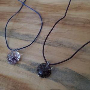 Jewelry - Glass flower bead necklaces!